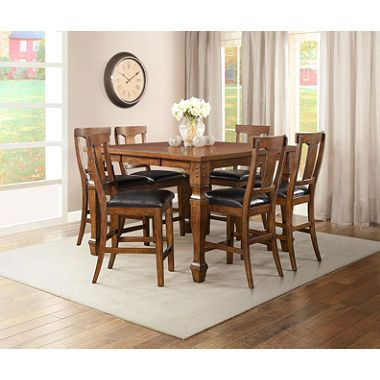 Parker Counter Height Dining Set 7 Pc Counter Height Dining Sets Dining Dining Set