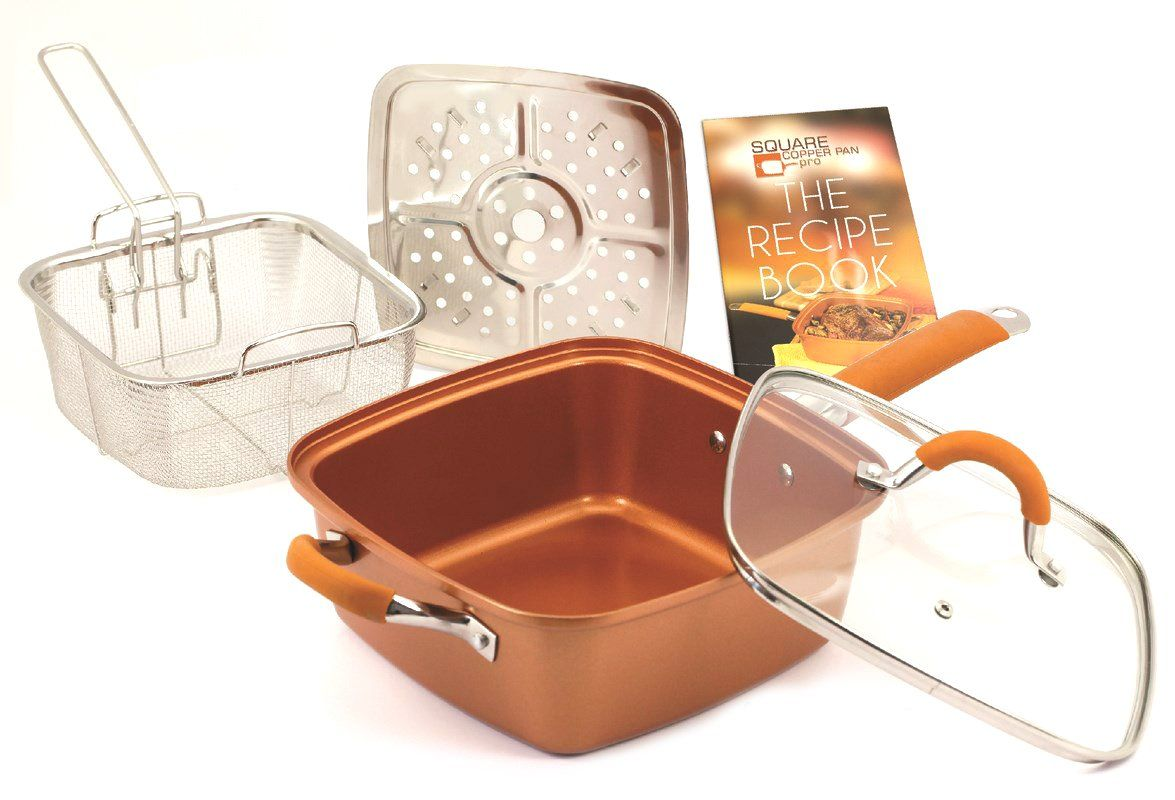 Square copper pan pro as seen on tv kitchen pinterest square