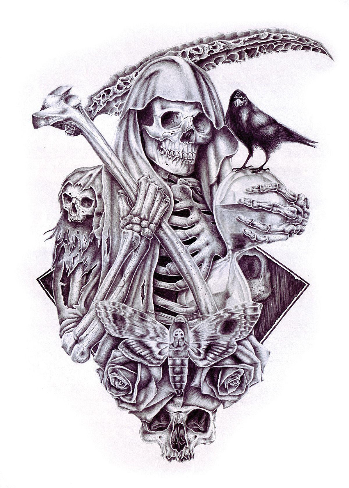 Tribal Santa Tatoo: Pin By Paul Tenuto On Skull Stuff