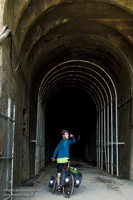At 2.5 miles in length, the Snoqualmie Pass tunnel is one of the highlights of the Iron Horse Trail (aka John Wayne Trail).