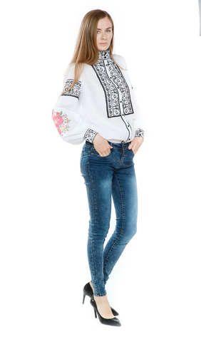 Вишиванка жіноча з кольоровою вишивкою арт  306-17 00 купити в Україні і a1cc4c6b8f669