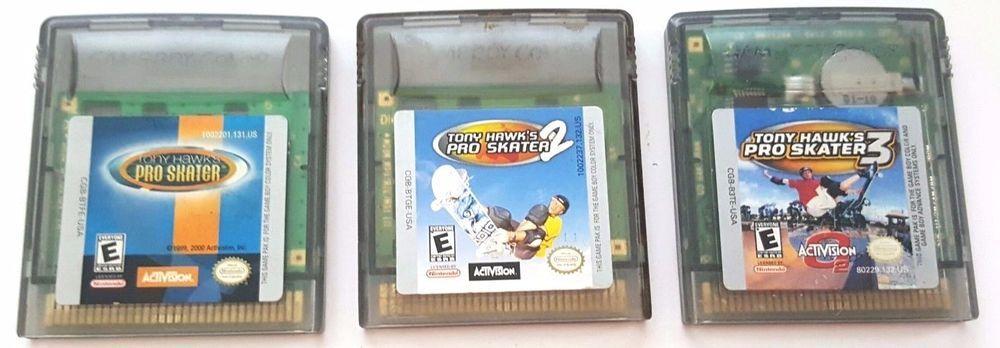 3 Gameboy Color Games Lot Tony Hawk S Pro Skater 1 2 3 Trio Fun Pro Skaters Tony Hawk Pro Skater Color Games
