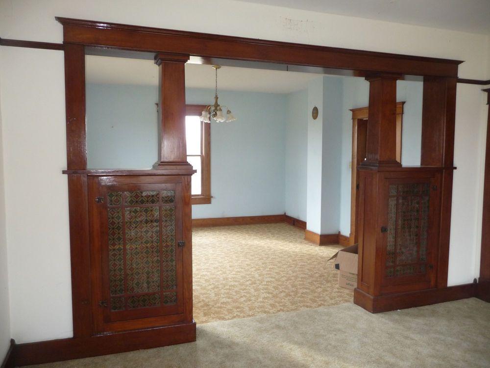 Antique Craftsman Style Formal Colonnade   Circa 1910 Fir Architectural  Salvage