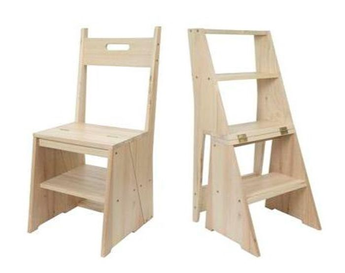 Chaool convertible chair transforms in a step stool when turning the double-sided knobs.  sc 1 st  Pinterest & Chaool convertible chair transforms in a step stool when turning ... islam-shia.org