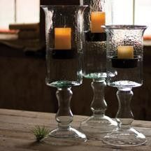 Glass Cylinder with Insert On A Glass Pedestal - Medium