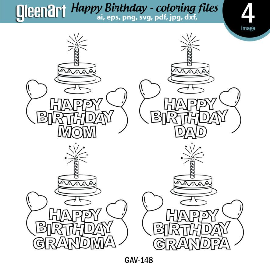 HAPPY BIRTHDAY printable and coloring pages, kid coloring ...