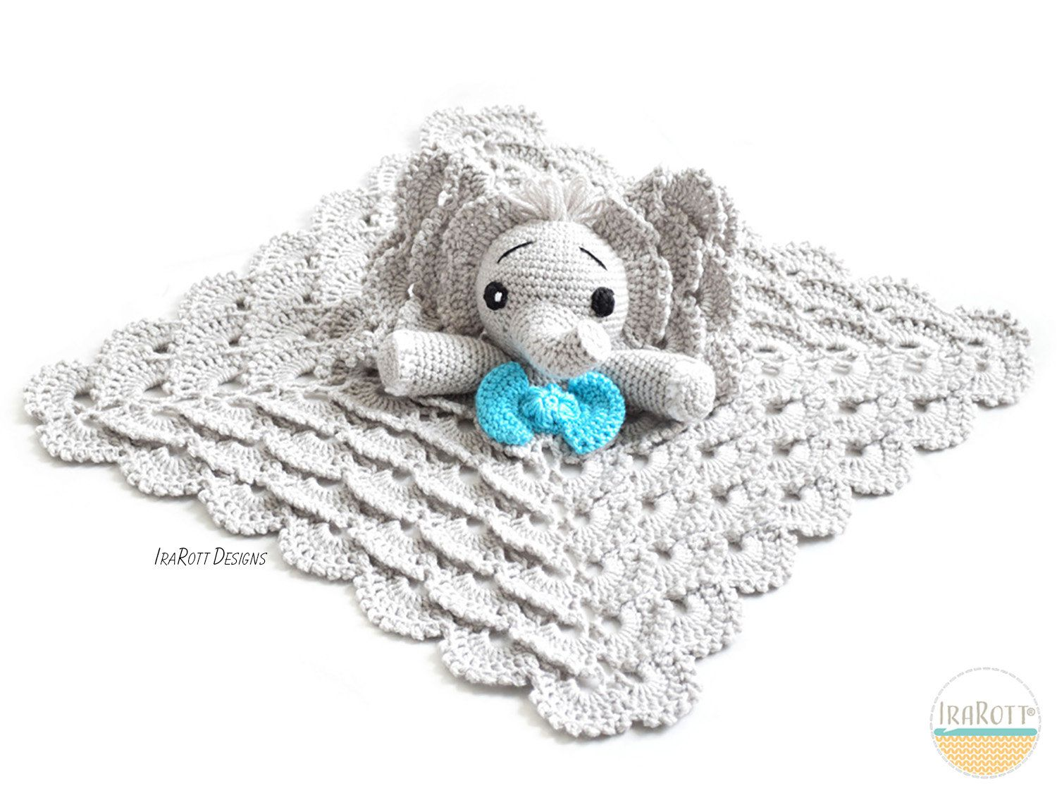 CROCHET PATTERN Josefina and Jeffery Elephant Lovey PDF