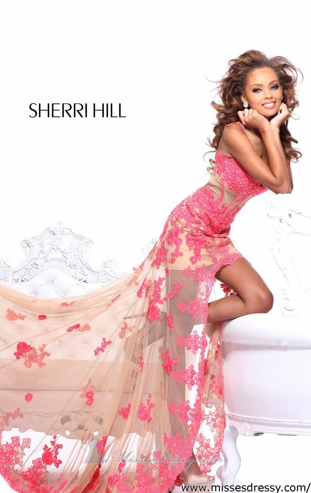 Sleeveless Hi Lo Gown by Sherri Hill | Dresses fan | Pinterest ...