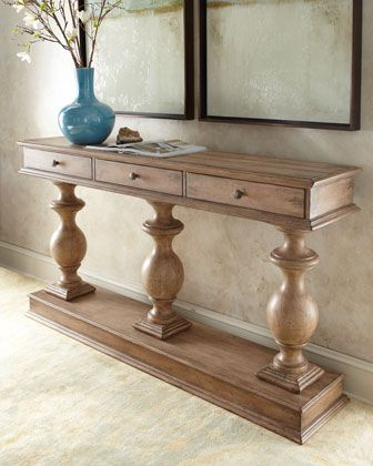 Thurman Pedestal Console Decor Handmade Furniture Furniture Makeover