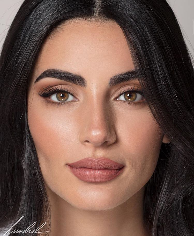 Beautiful natural makeup! Matte makeup, Full face makeup