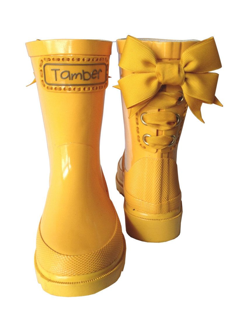 Timber Tamber Rain Boots Rubber Gumboots Yellow. $47.00, via Etsy ...