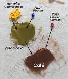 Mezclar Color Cafe Con Verde Y Rojo Hacer Colores Mezcla De Colores De Pintura Tutoriales De Pintura Al óleo