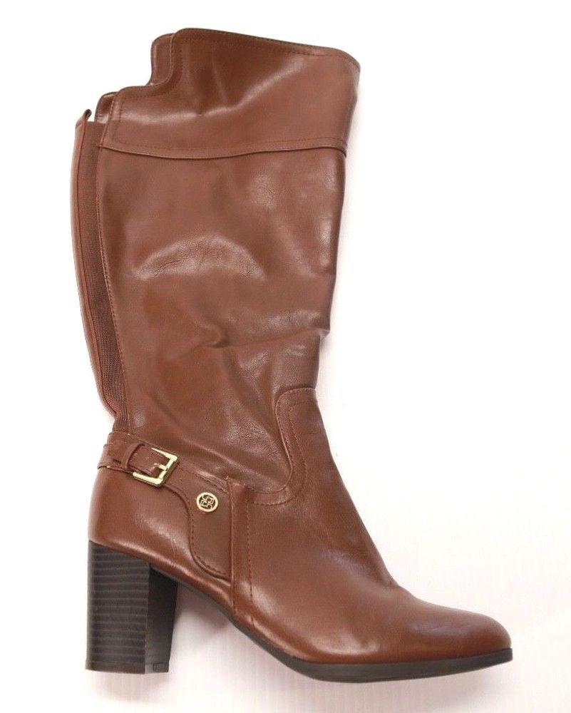 80e4c2cf47 Liz Claiborne Women's Brown Wide Calf Boots Round Toe Size 7 #LizClaiborne  #calfhighboots