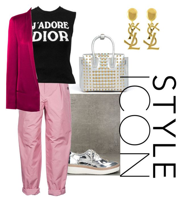 """Iconic Street style"" by nedixon on Polyvore featuring Steven, Bottega Veneta, Christian Dior, Haider Ackermann, MCM and Yves Saint Laurent"