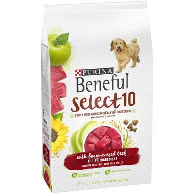 Beneful Select Dry Dog Food Beef Flavor 12 5lb Dry Dog