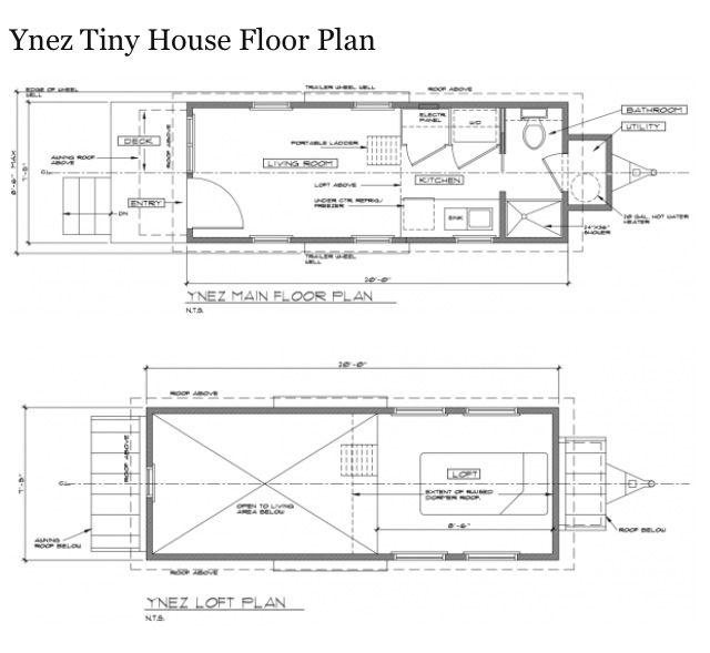 7x20 Trailer Tiny House Floor Plans Tiny House Inspiration House Floor Plans