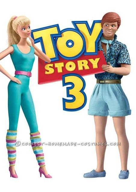 d4575d8483fa9 Awesome Homemade Ken and Barbie Toy Story 3 Couple Costume ... This website  is the Pinterest of costumes