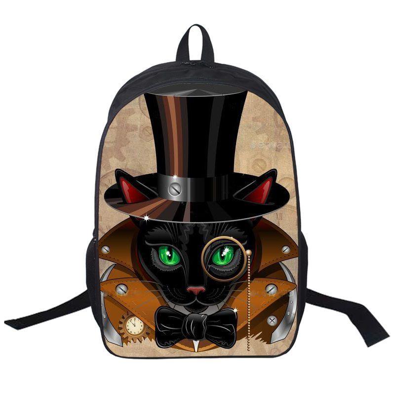 Animal Printing Backpack Dog Rottweiler Pug Golden Retriever Daily Backpack Boys Girls School Backpacks Cat Punk School Bags