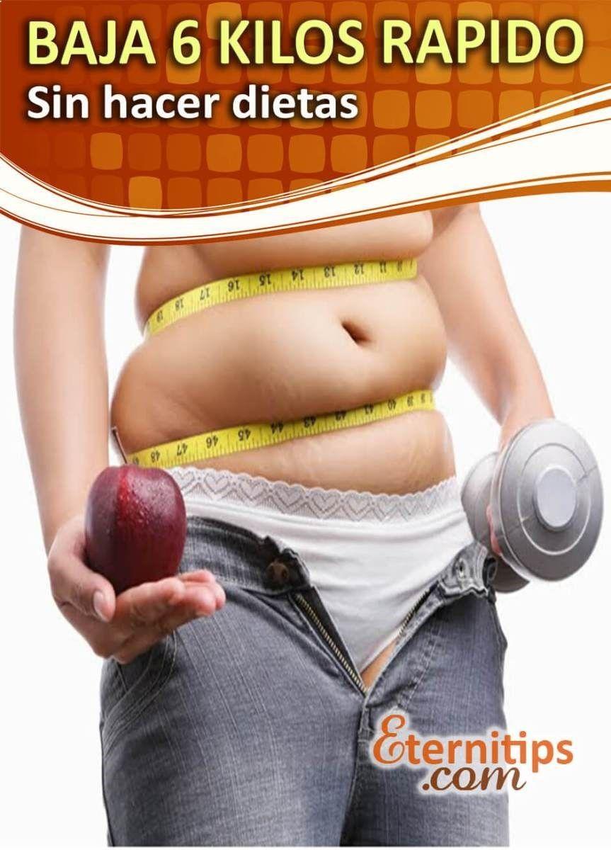 Como bajar de peso sin hacer dieta rapido y