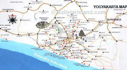 Yogyakarta Map Java Island Asian Destinations Pinterest Øer - Yogyakarta map