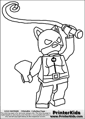 Lego Batman   Catwoman With Whip   Coloring Page