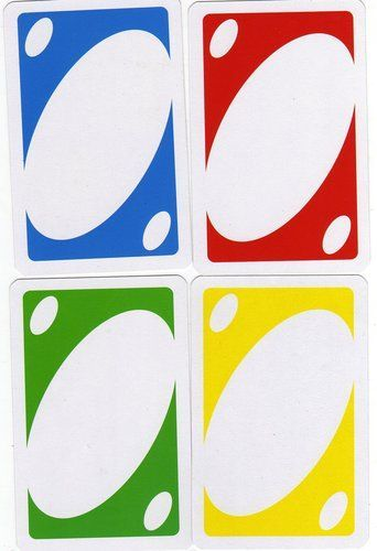 uno card template  google search  educational printables