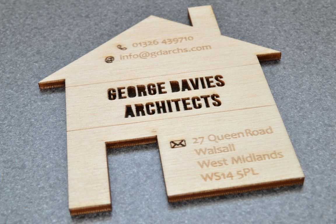 Architect card back by Doric Design & LaserFlair | Wooden business ...