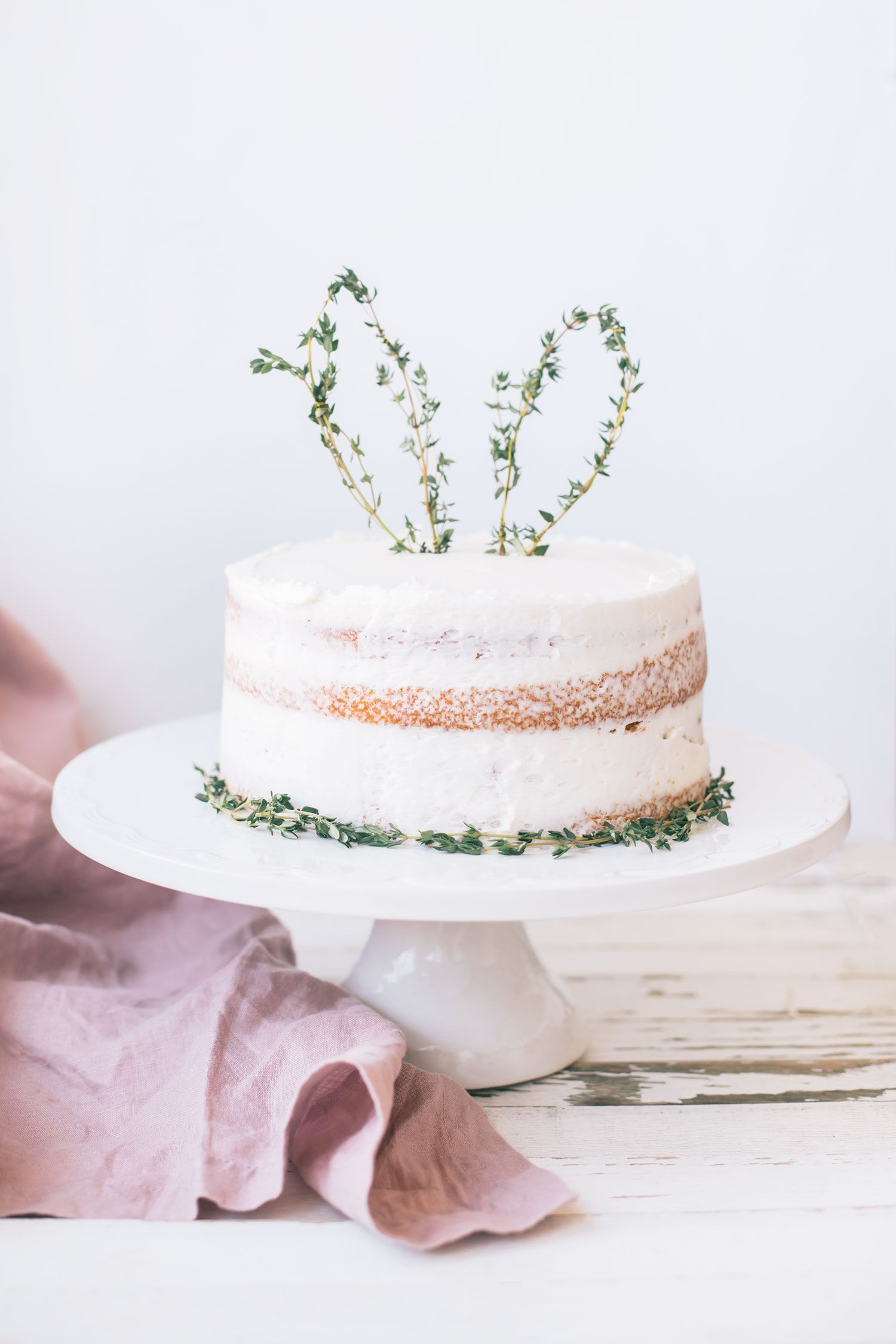 Easy Easter DIY: Thyme Bunny Ear Cake Topper   The Blondielocks   Life + Style