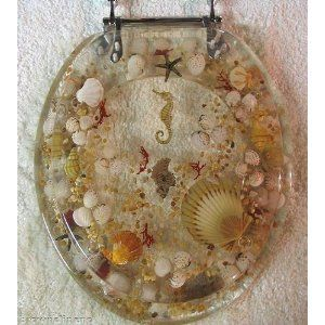 Sea Shell Lucite Tropical Fish Toilet