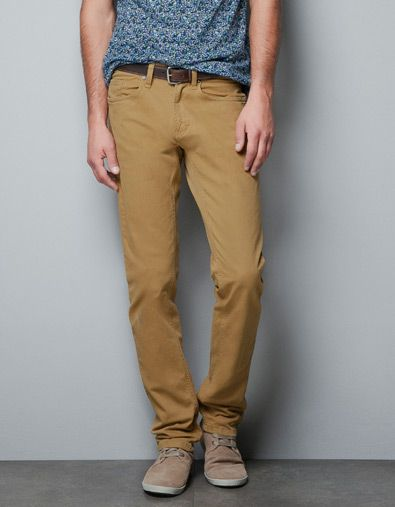 a4da3a67 SLIM FIT BULLDENIM TROUSERS - Jeans - Man - New collection - ZARA United  States