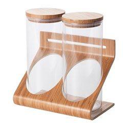 RIMFORSA Supporto con contenitori, vetro, bambù | Epta project ...