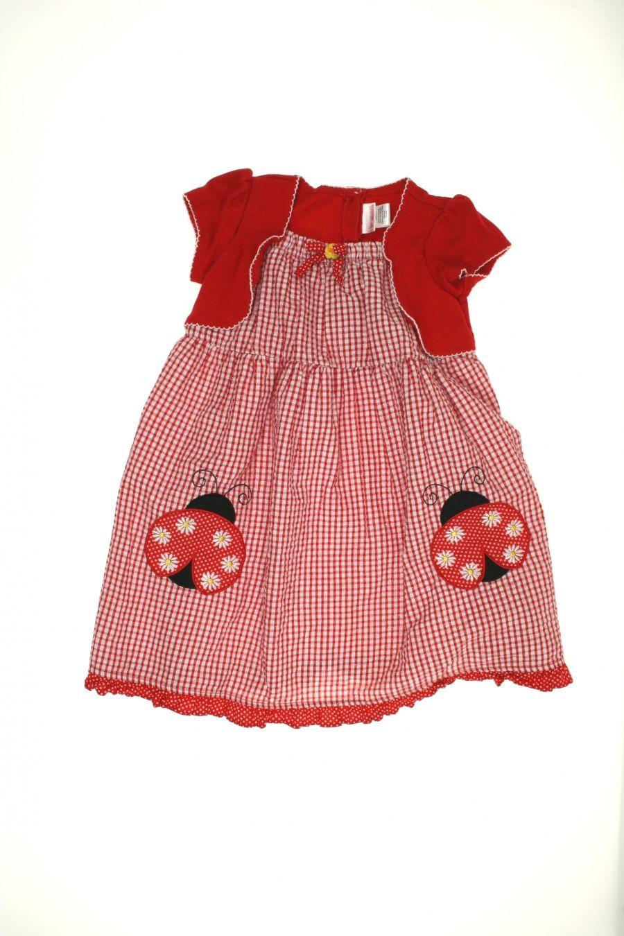 Girls youngland short dress size s ladybugs kids clothing