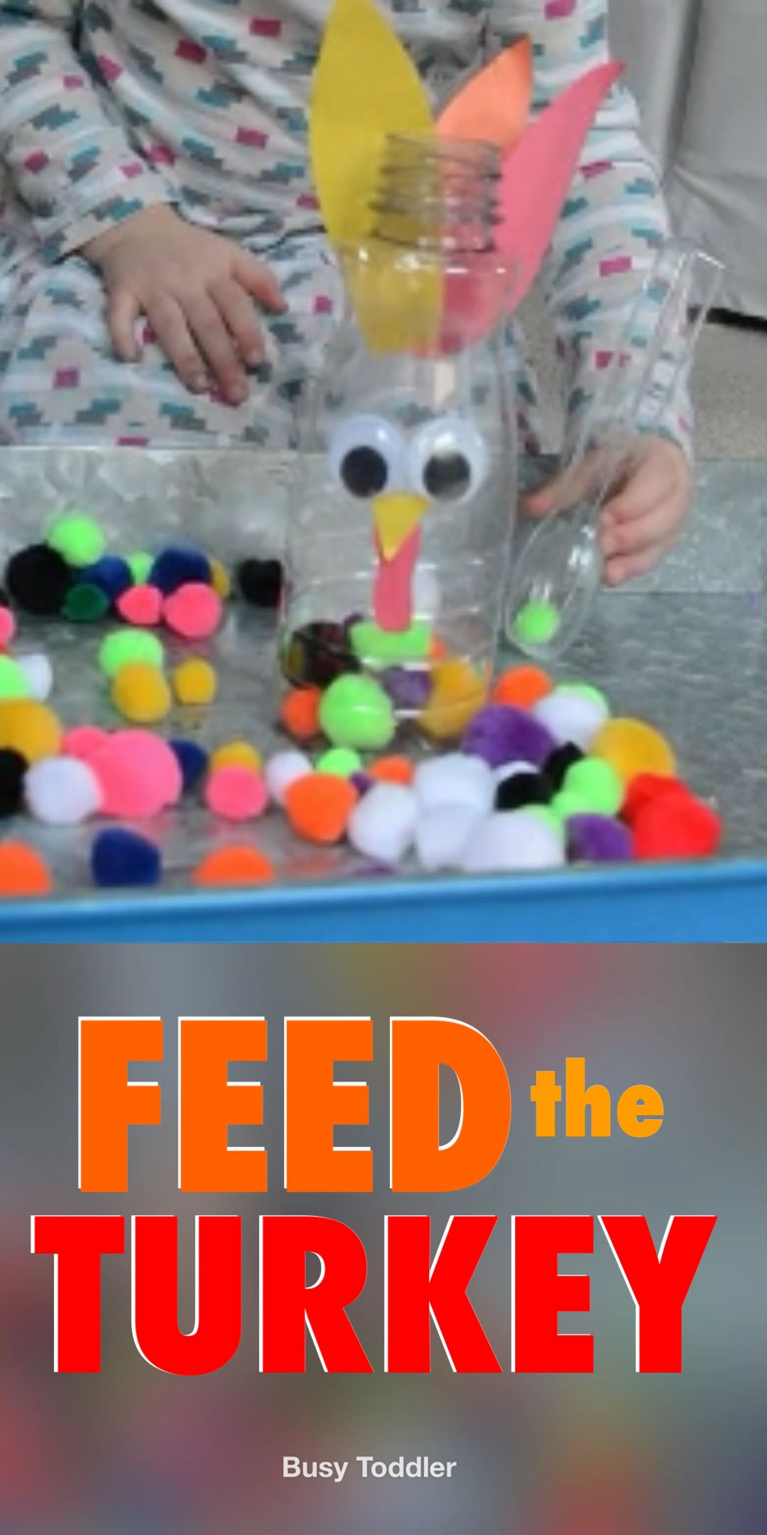Feed the Turkey Thanksgiving Activity - Busy Toddler
