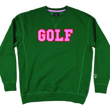 1e5186916a43 GOLF COLLEGE CREW DARK GREEN – golfwang