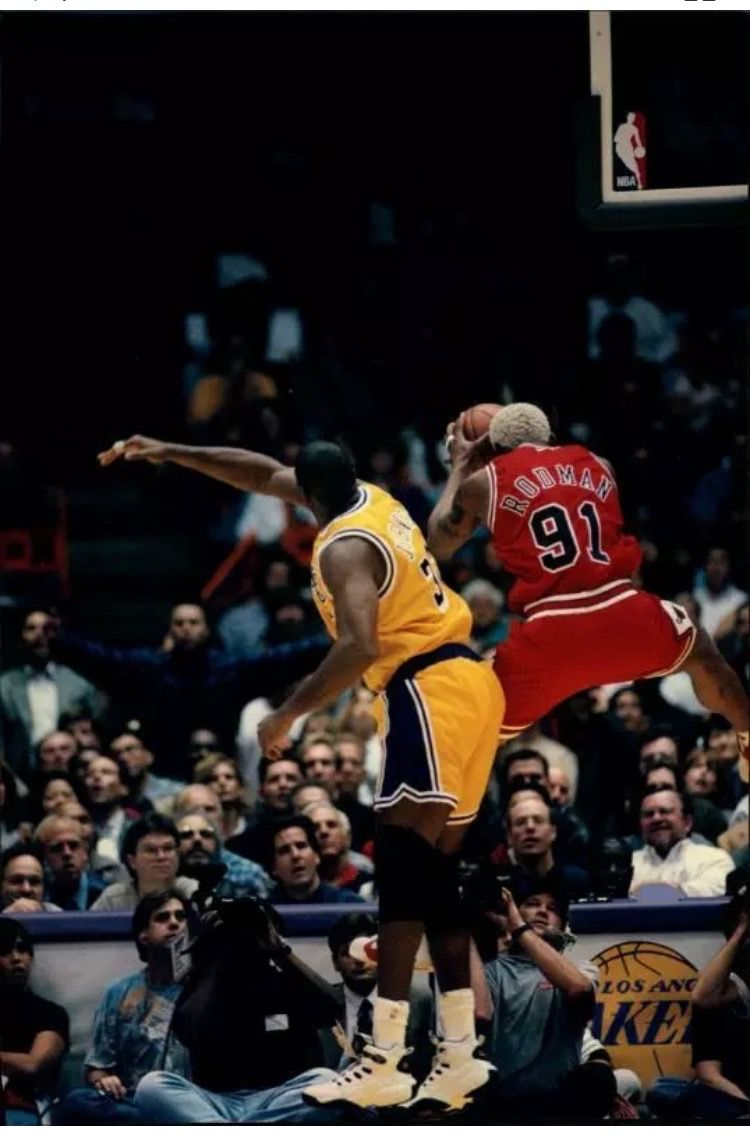 a0b0429387 Magic Johnson and Dennis Rodman - Chicago Bulls | Magic Johnson ...