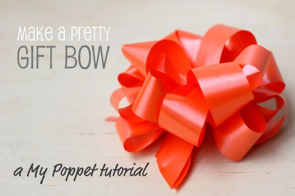 How To: Make a Pretty Gift Bow   Gift bow, Wraps and Gift