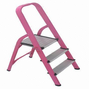 Pink Monkey Steps EN131 Aluminium 3 Step - Step Ladder