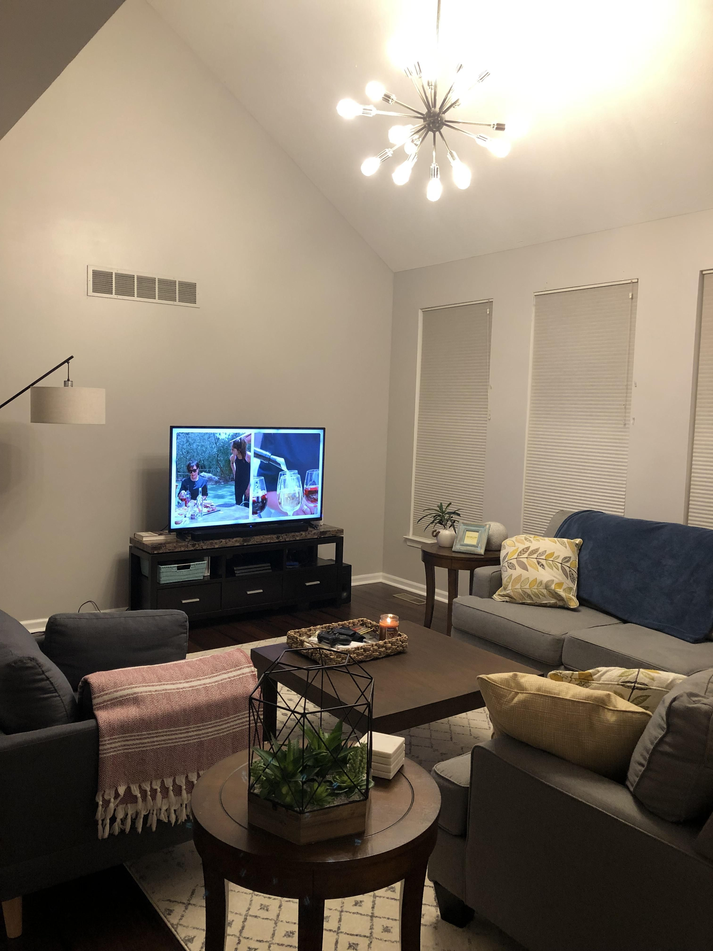 Help Me Design My Living Room: What Can I Do To The Big Empty Wall Behind My TV? Im