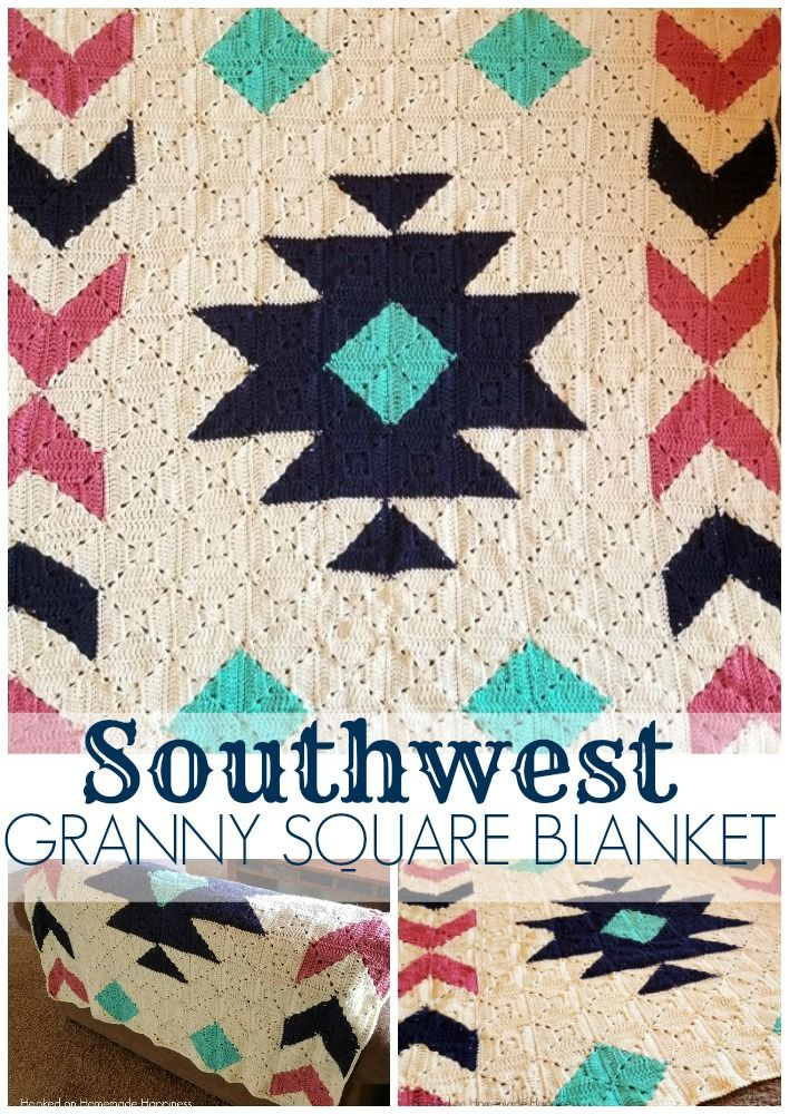 Cal Southwest Granny Square Blanket Crochet Pattern Part 4 Afghan