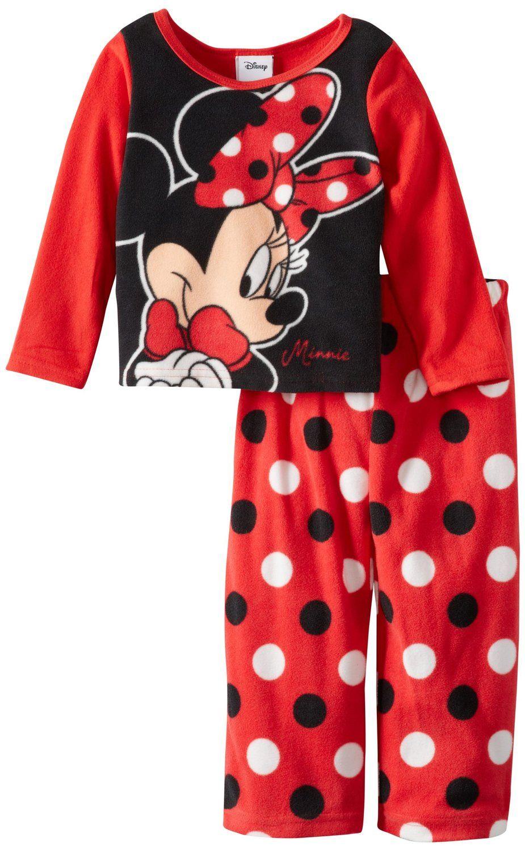 Amazon.com  Minnie Mouse Girls 2-6X 2 Piece Fleece Pajama Set ecf3ffbab