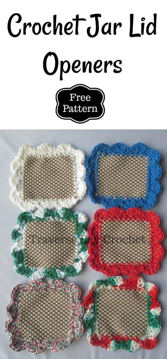 Crochet Jar Lid Opener -