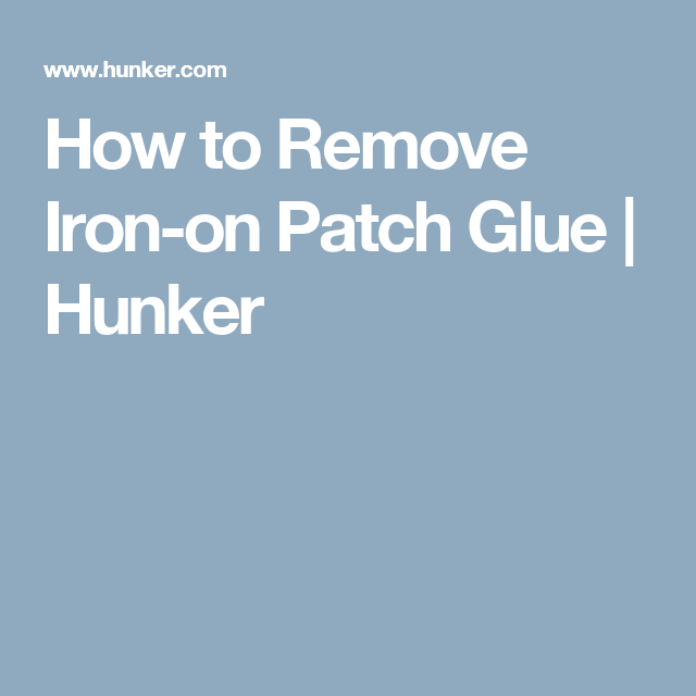 iron on patch adhesive removal