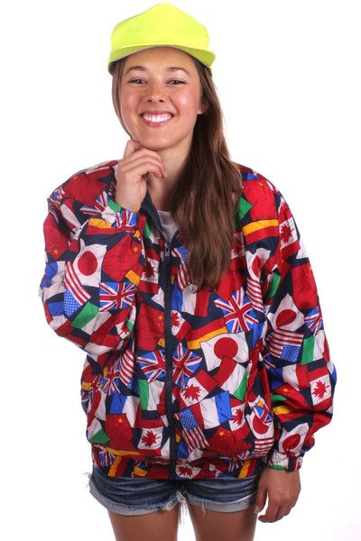 This multi-flag jacket has almost as much culture as you do.  | Get your USA gear and all manner of outrageous threads at Shinesty.com