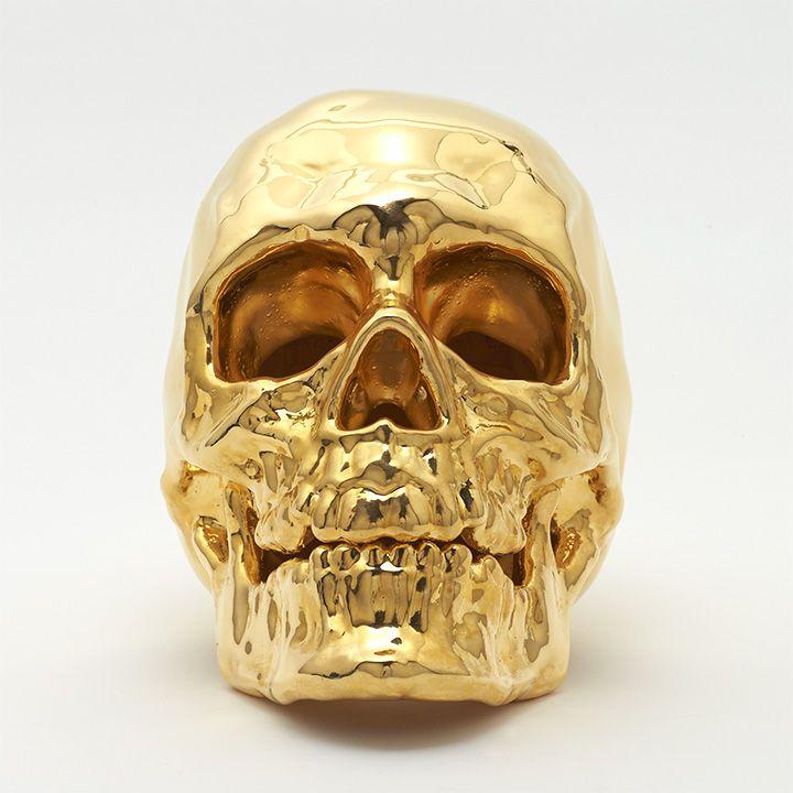 3D Printed 24k Gold Skull