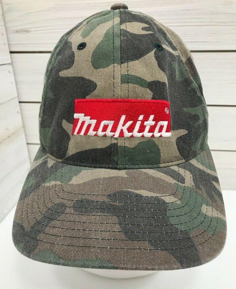 901a5216a4cc8 Makita Tools Camo Fitted FlexFit Cap Mens Size Small Medium Green Black  Brown  Flexfit  BaseballCap  Casual