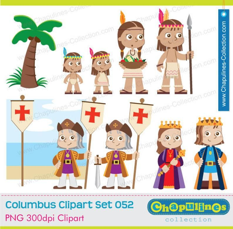 60 Off Columbus Clipart The Discovery Of America Columbus Day Set 052b Clip Art Columbus Columbus Day