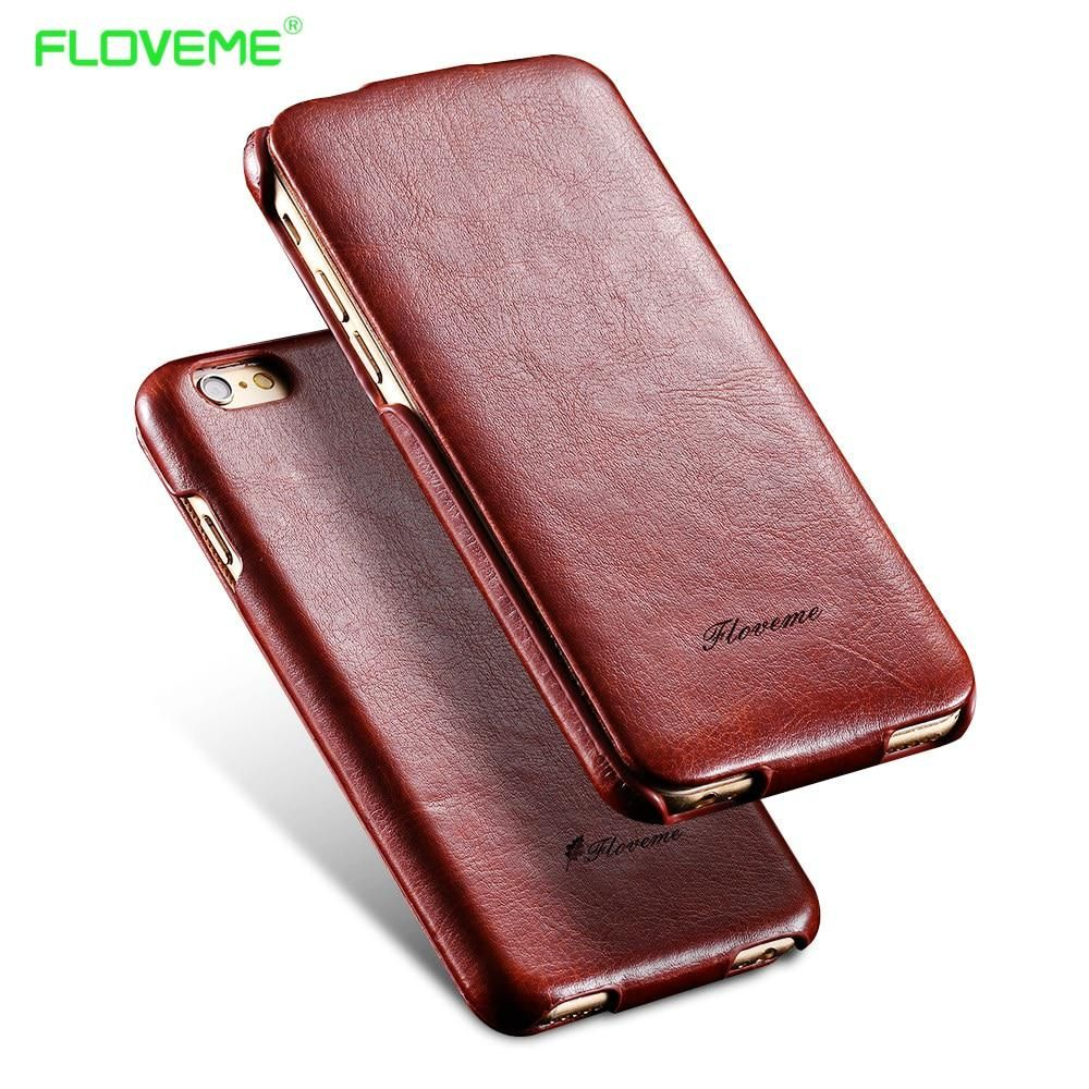 Floveme For Iphone 7 6 6s Plus Vertical Flip Leather Case For