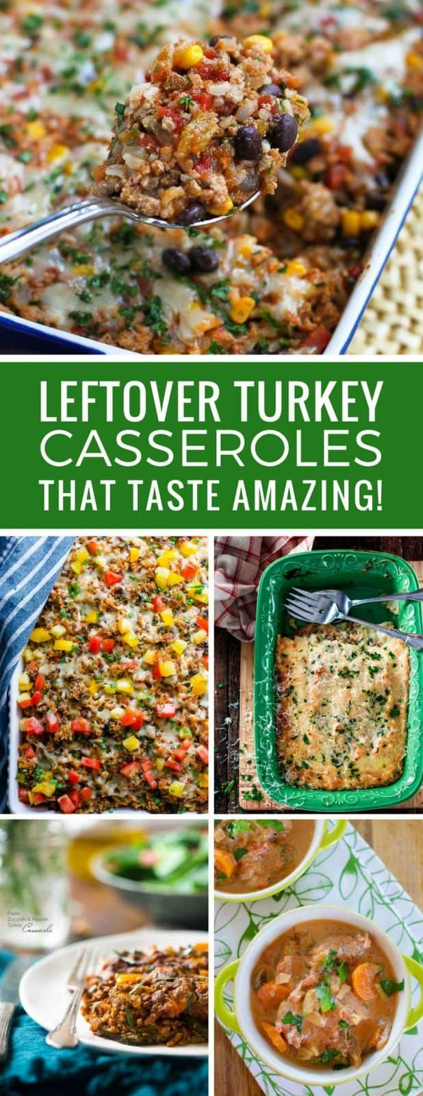 9 Easy Leftover Turkey Casserole Recipes That'll Make You Look Forward to Dinner! #leftoverturkeyrecipeseasy