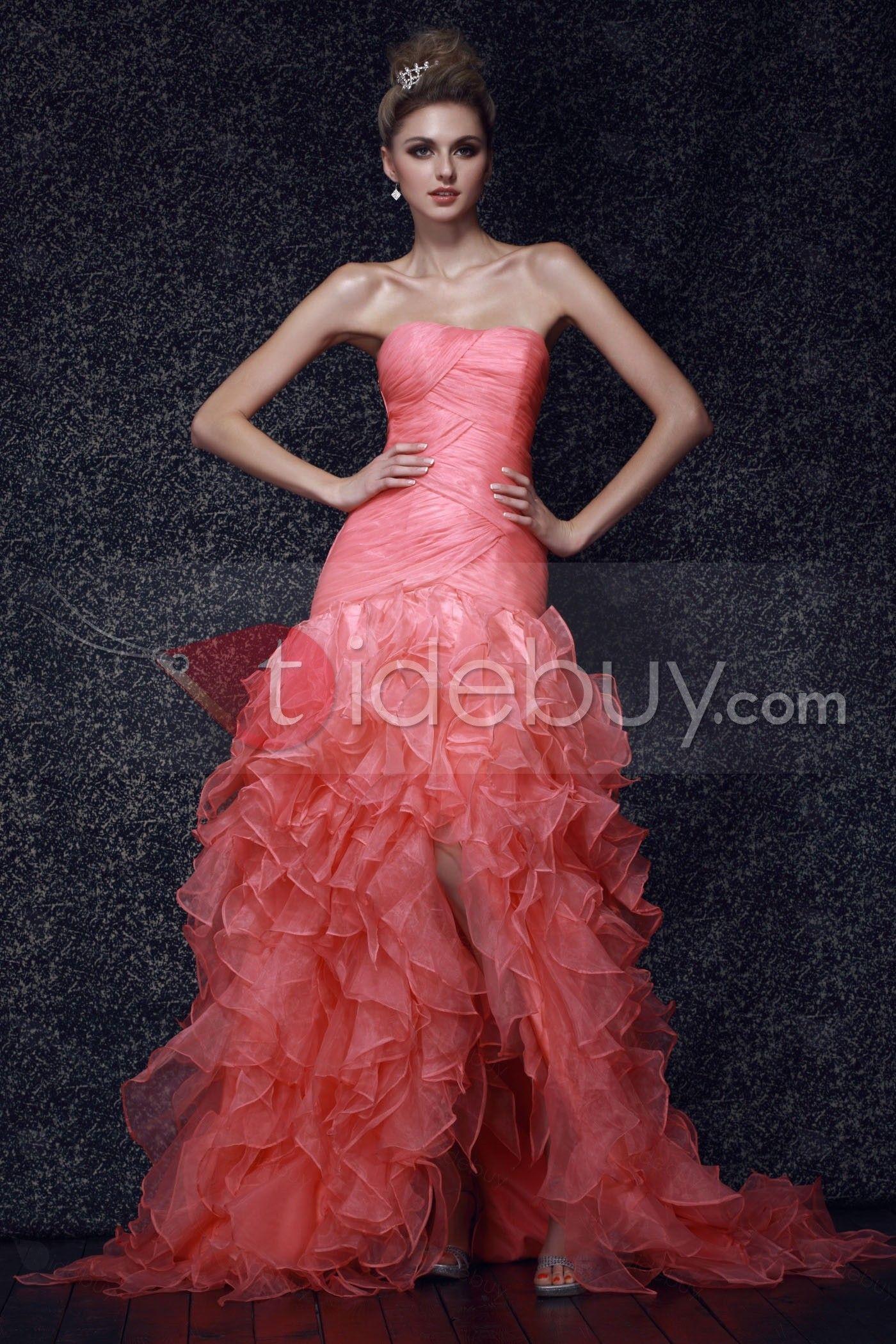 Sexy Dasha\'s-Vestido de Noche Tipo Sirena sin Tirantes $168.99 ...