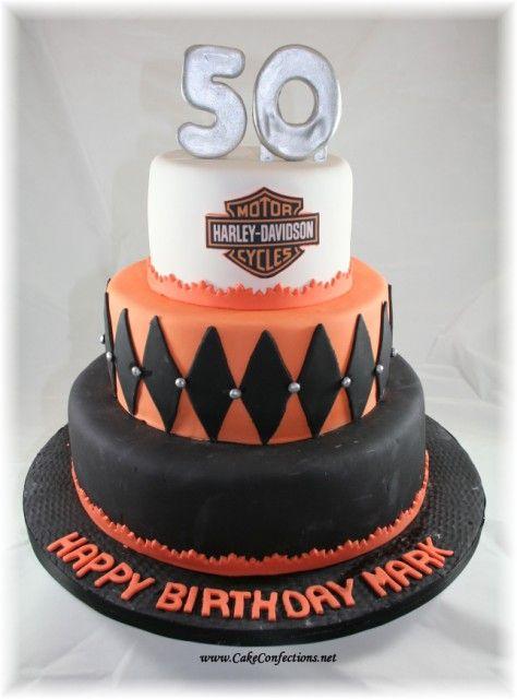 Harley cake alex Pinterest Cake Cookie cake designs and Cake